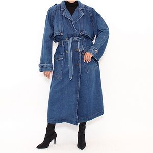 Denim 1980s Trench Coat by Together